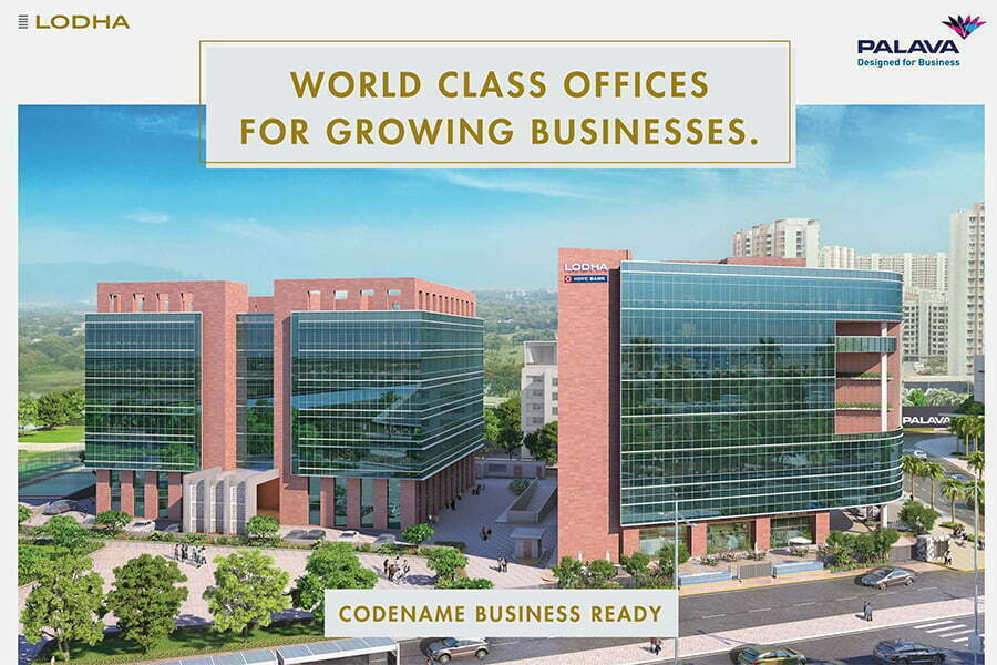 Lodha Codename Business Ready commercial 200 sq ft 63lakhs